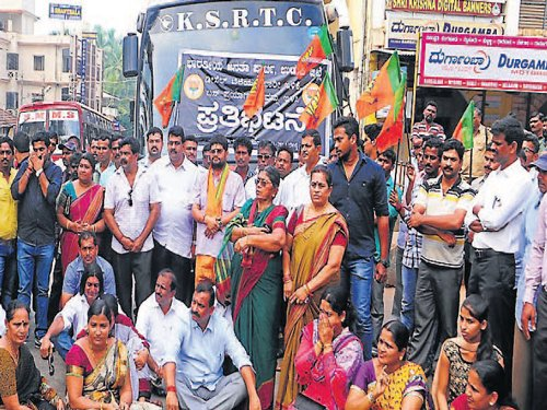 BJP demands cut in bus ticket fares