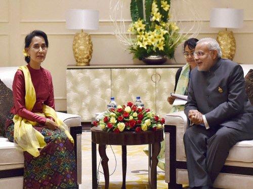 'India my second home', Myanmar's Suu Kyi tells Modi