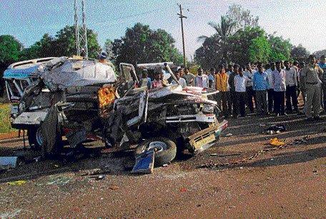 Tanker rams ambulance, 4 killed