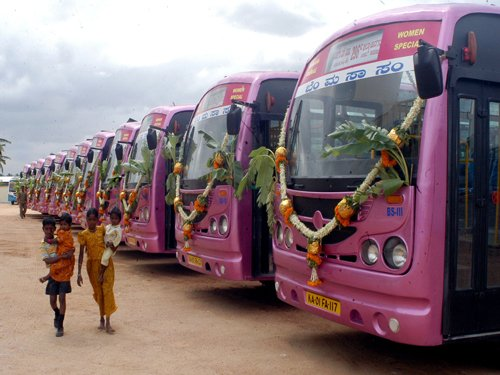Special buses sought for women