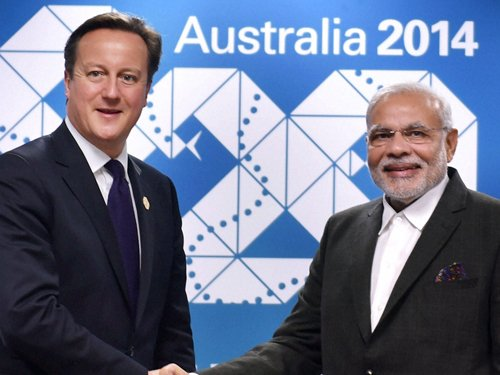 Relations with India top priority: Cameron to Modi