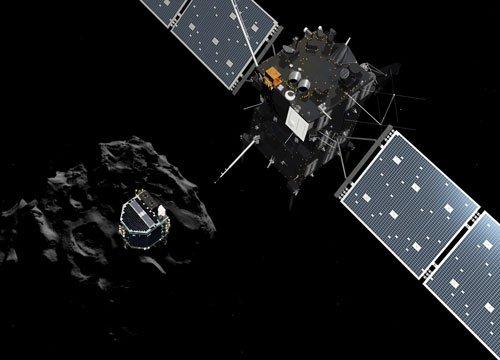 Triumphant comet probe sends last-gasp data from 'alien world'