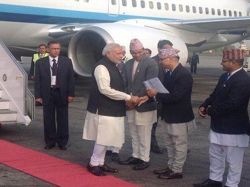 PM Modi in Nepal for SAARC Summit