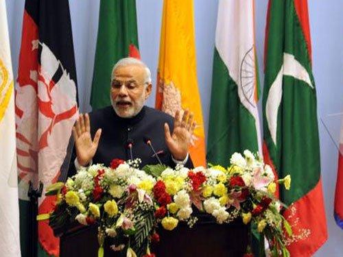 Modi raises terrorism at Saarc on Mumbai attack anniversary