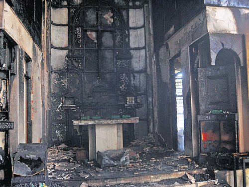 Church gutted in City, foul play suspected