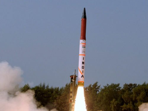 N-capable  Agni IV missile  successfully  test-fired
