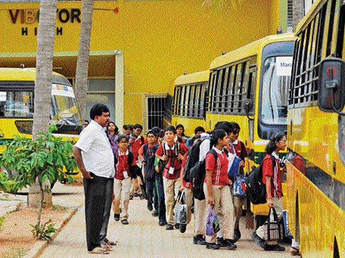 213 school buses booked for violating safety norms