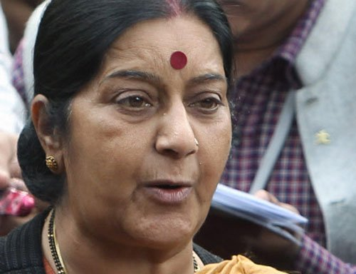 Sushma under fire from oppn over Gita remarks