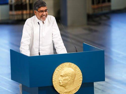 Satyarthi loses Nobel acceptance speech page