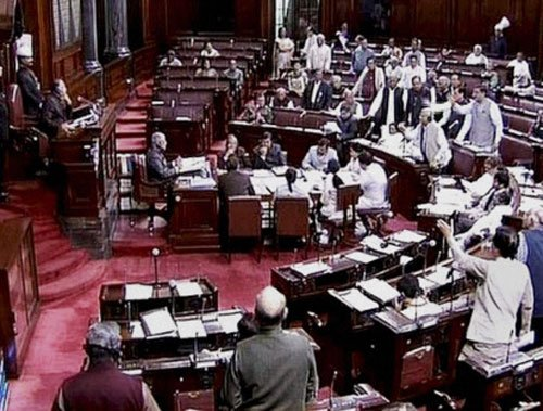 Congress uproar in RS over eulogising Godse