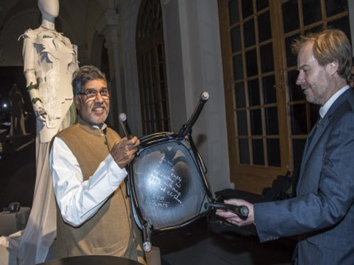 Satyarthi's autographed chair, Amartya's bicycle at Nobel museum