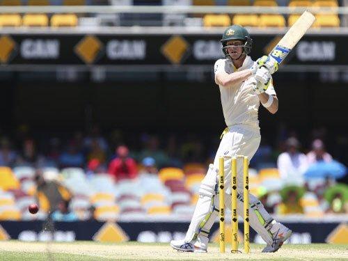 Smith hits ton on captaincy debut as Australia take lead