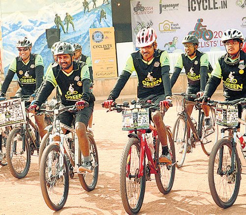 Pedalling to peddle the fitness message
