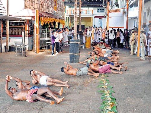'Ede Snana' performed at Kukke Subramanya