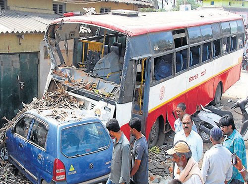 Bus involved in series of mishap, two killed
