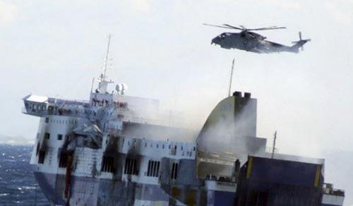 Italian ferry blaze toll rises to 10