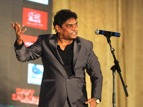 Johnny Lever, a proud father!