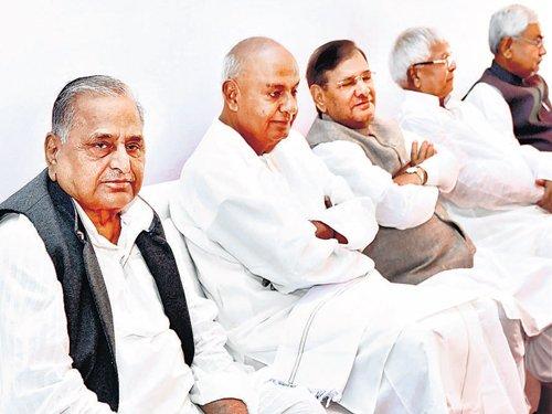 Merger of Janata Parivar parties on track: Nitish