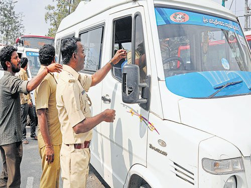 101 private vehicles carrying passengers seized