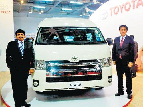Toyota showcases ten-seater commuter vehicle 'Hiace'