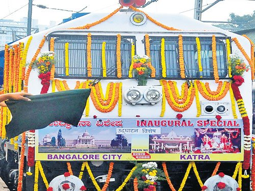 Four new trains launched from B'luru