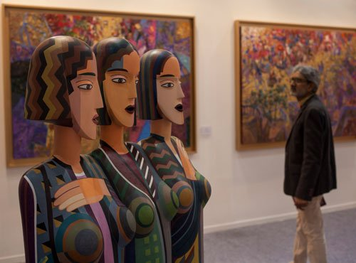 Indian artists showcased by foreign galleries at India ArtFair