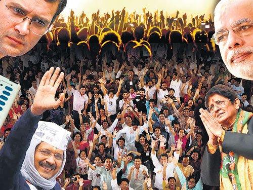 Delhi: It's Kejriwal vs Kiran Bedi
