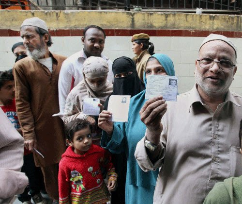 Polling begins for 70 assembly seats in Delhi