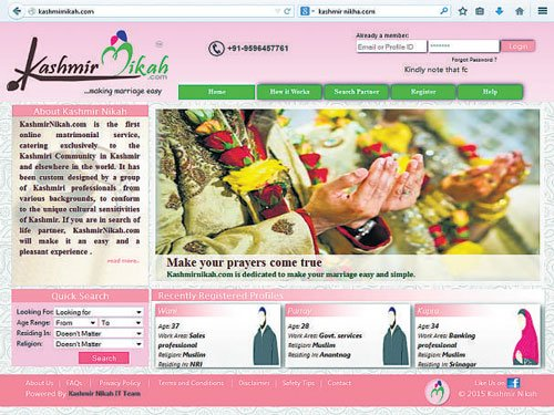 Matrimonial site a hit with Kashmiri community