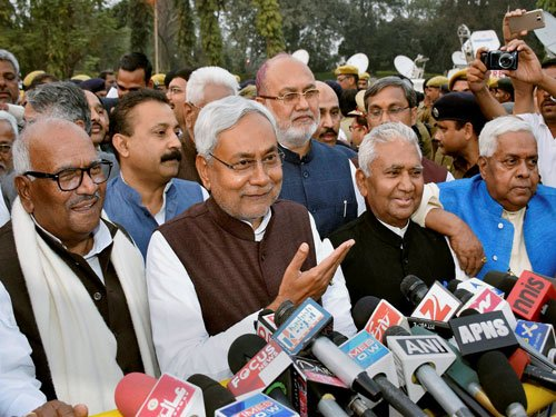 Nitish takes oath as Bihar CM for fourth time, has his task cut out