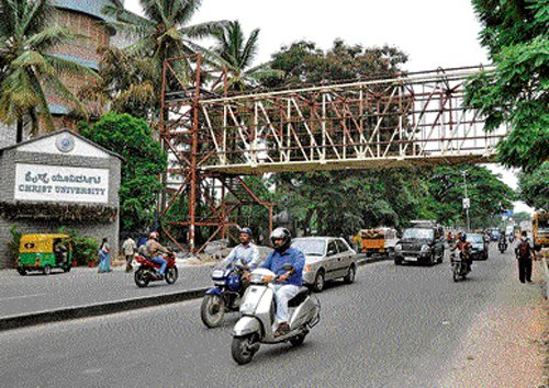 Skywalk planned at accident spot