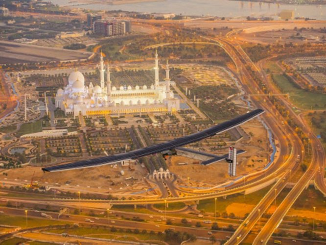 First solar plane lands this weekend
