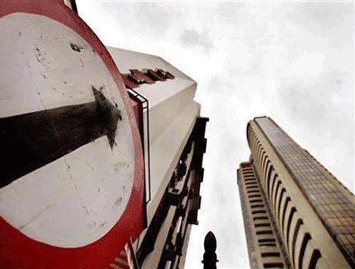 Sensex down 75 pts on profit-booking, weak economic data