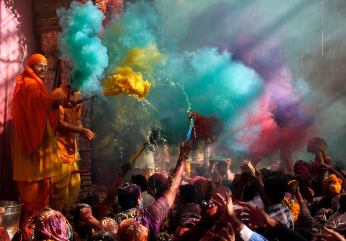 People throng streets to celebrate Holi in Punjab, Haryana