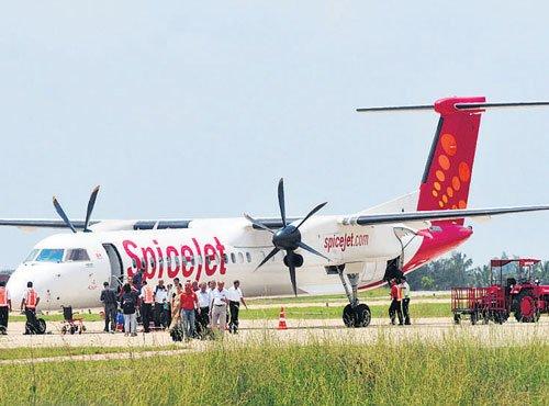 Plane skids off runway; narrow escape for 77 passengers