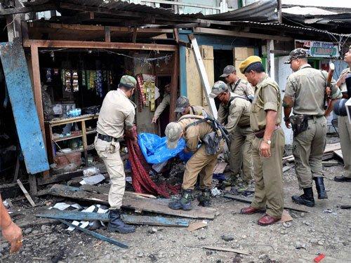 Three killed, 23 injured in Manipur bomb blast
