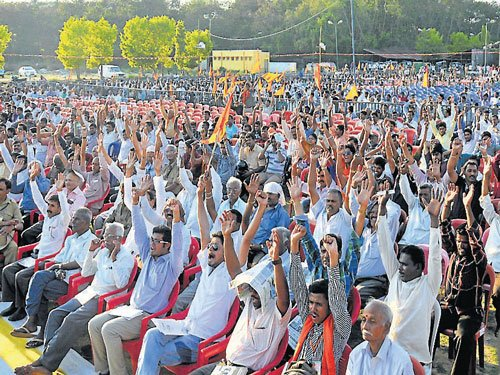 Togadia's absence makes it a muted affair