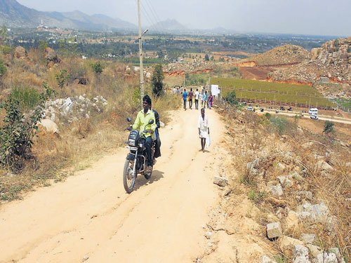 Road to Gopinath hill in sorry state