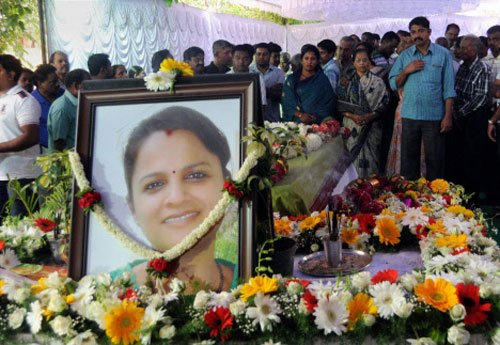 Woman techie's body cremated