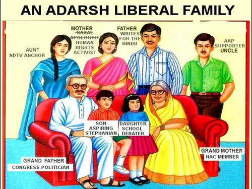 'Adarsh Liberal' hits again with a family poster