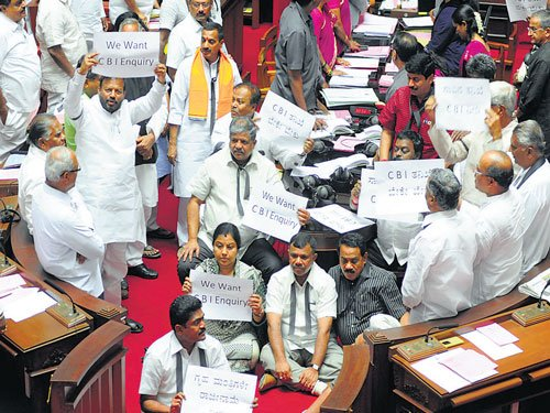 Opposition parties insist on CBI probe, stall both Houses