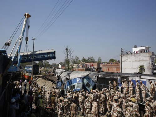 31 killed as train derails in UP, more casualties feared