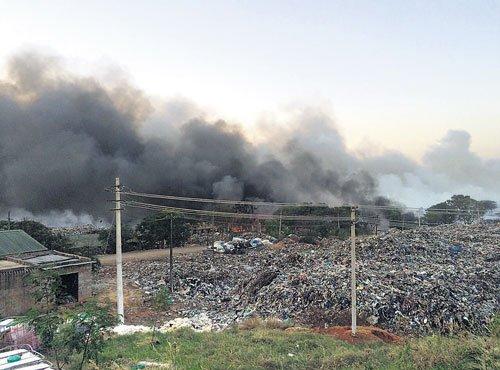 Major fire at Terra Firma landfill