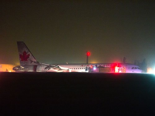 Air Canada jet skids off Halifax runway, at least 23 injured