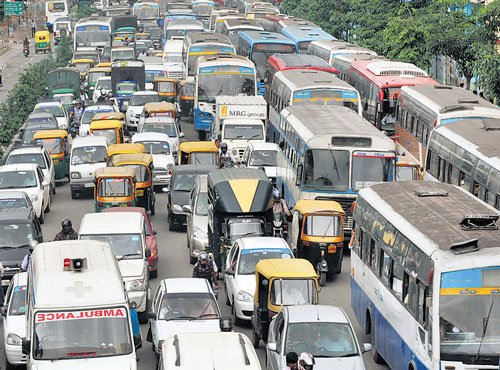 'Silk Board-Hebbal stretch most congested'
