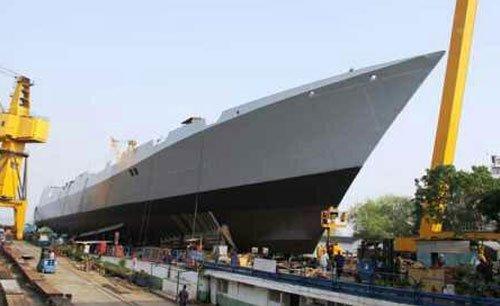 Navy launches stealth destroyer 'Visakhapatnam'