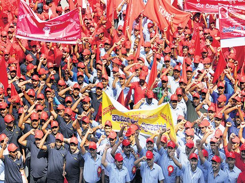 Rallies, processions mark May Day
