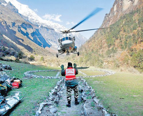 Choppers lifeline for remote villages
