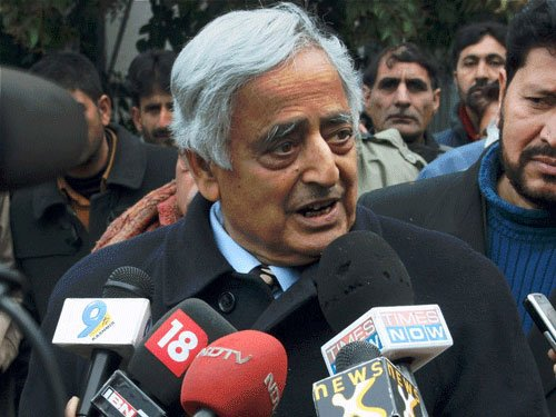 Things take time to improve: Mufti Mohammad Sayeed