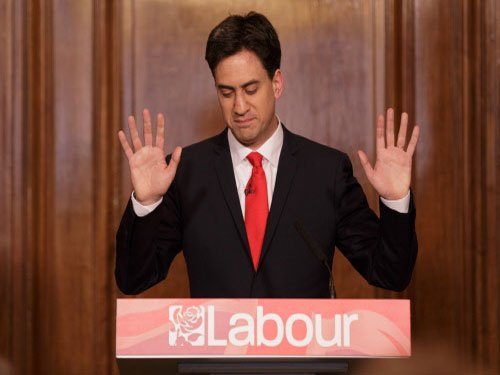 British polls: Labour party leader Ed Miliband resigns